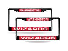 Washington Wizards NBA Black Metal (2) Laser Cut License Plate Frame Set