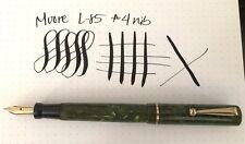 Moore L-85 Jade Fountain Pen Flexible Nib Excellent Condition