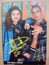 2 UNLIMITED - The Real Thing - Lyric Card + Autographs