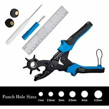 Leather Hole Puncher Tool Belt Pliers Measuring Ruler Screwdriver Cut-Off Awl