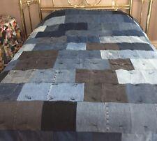 Full/Queen Size  Handmade  Denim Quilt 85 x 92