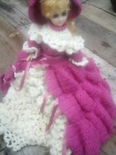 Vintage dolls, old dolls, collectible barbie dolls, crocheted doll clothes