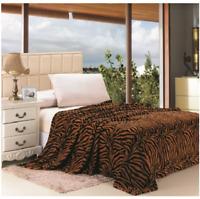 Brown Zebra Print Microfiber Blanket Ultra Soft & Warm All-Season™ Bed Blanket