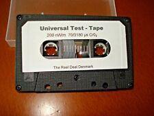 CrO2 Universal Test tape. Azimut level Studer Revox Nakamichi Akai and others