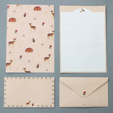 Cute Baby Deer - Letter set 4sh Lined Writing Stationery Paper 2sh Envelope