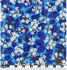 Quilting Fabric Winter Cherry Blossom Turquoise BG Fat Quarters 100% Cotton