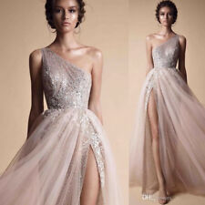 Berta A Line Prom Dresses One Shoulder Sequined Shiny Evening Formal Party Gowns