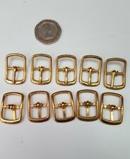B6 Solid Gold Buckles Fits 11mm Straps Cobblers Tools Repairs Shoes Hardware