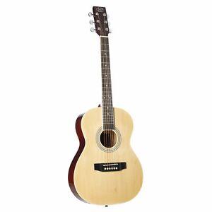 J & D AG-1 Mini Westerngitarre, Akustik-Gitarre für Anfänger und Einsteiger, 3/4