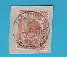 Frammento ITALIA COLONIE SOMALIA 1903-07 Elefante e Leone usato 15 su 2 MAHADDEI