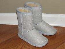 NEW EMU Silver Shearling Boots size 11 Girl NWOB