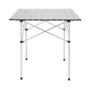 Portable Folding Camping Bench Aluminum In/Outdoor Picnic Party Dining Table
