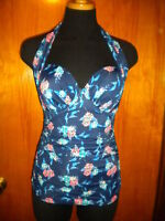 Victoria's Secret Forever Sexy Floral Push Up Convertible Halter Tankini Top 34B