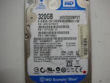 """WD Scorpio Blue 320gb WD3200BPVT-16ZEST0 2061-771672-E04 ad 2,5 """" SATA"""