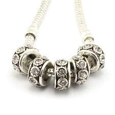 5pcs Tibetan silver Czech big hole spacer beads fit Charm European Bracelet