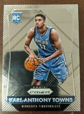 2015-16 PANINI PRIZM #328 KARL-ANTHONY TOWNS RC ROOKIE CARD