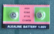 2 Piles de montre AG4 1,55v SR626SW-SR626-377-377A LR66 neuve sous blister