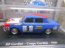RENAULT 8 Gordini r8 COUPE 1969 #9 RACING RALLY HACHETTE Eligor 1:43