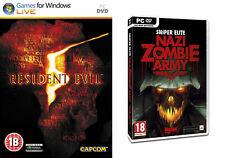 resident evil 5 & sniper elite nazi  zombie army & demonicon         new&sealed