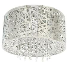 NEW HOME DECOR 15.75 in. 7-Light Stainless Steel Flush Mount W Mirrored Shade