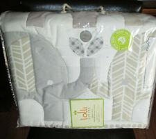 LOLLI LIVING $186 Crib BEDDING Set 4PC NATURE GRAY ELEPHANTS