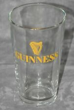 """Guinness 1 Pint Beer Glass Gold Logo Heavy Beer Glass 5.25"""" Tall New"""
