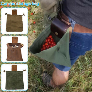 Leather and Canvas Bushcraft Bag & Buckle Foldable Heavy Duty Tool Pouch Outdoor