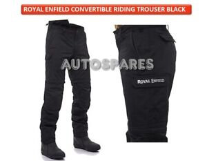 """Royal Enfield """"ALL WEATHER PROTECTIVE"""" Convertible Riding Trouser Black"""