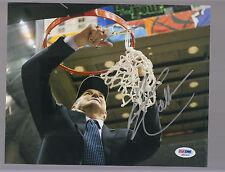 Jim Calhoun UCONN Huskies Championship Net cutting Autograph 8x10 photo PSA/DNA