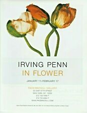"""Irving Penn Iceland Poppy In Flower Exhibition Magazine Ad Page Art Print 9""""x11"""""""