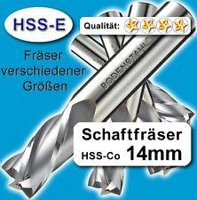 Fräser 14mm 4S.83mm Edelstahl Alu Messing Co-hochlegierte Qualität M35