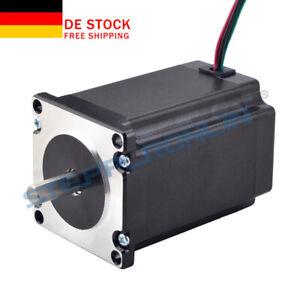 Schrittmotor Nema 23 Stepper Motor 2.4Nm 4A 82mm Länge 8mm Flat Shaft CNC
