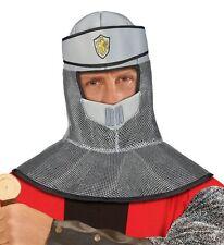 Medieval Crusader Knight Helmet Hood Men's Fancy Dress Hat