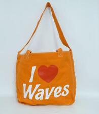 American Eagle Outfitters I Love Waves Orange Cotton Canvas Eco Tote Bag New NWT