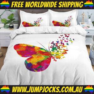 Rainbow Butterflies Bedspread Set - Duvet Cover *FREE WORLDWIDE SHIPPING*