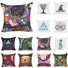 18'' Harry Potter Sofa Pillow Case Back Cushion Cover Cotton Linen Home Decor