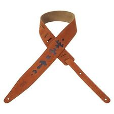 Levy's Leathers MS317JAX-CPR Jax Series Designer Suede Leather Guitar Strap