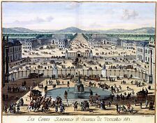 2 Affiches Palace Chateau Jardin de Versailles par Palace d'Armes Photos NEUF