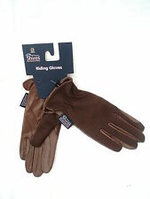 """Ladies Horse Riding Leather Gloves """"Chilworth""""   Brown Extra Small by Shires"""