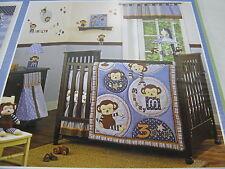 3 pcs Cocalo Baby Monkey Mania Window  Valance Diaper Stacker and Canvas Art NEW