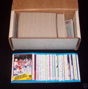 1989/90 O-Pee-Chee Hockey Set COMPLETE OPC Set SAKIC Leetch FLEURY RC +++ BV $30