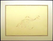 Scott Sandell Bottomfish signed Original Watercolor Painting on Paper MAKE OFFER