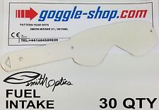 30 qty GOGGLE-SHOP TEAR OFFS to fit SMITH FUEL / INTAKE MOTOCROSS GOGGLES