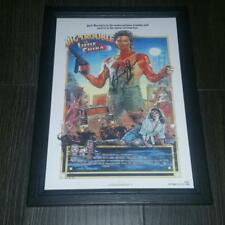 """BIG TROUBLE IN LITTLE CHINA PP SIGNED & FRAMED A4 12X8"""" PHOTO POSTER AUTOGRAPHED"""