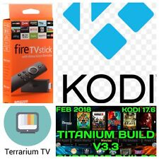 Amazon Fire TV Stick 2nd Gen  KODI 17.6 TV Quad Core -Alexa voice remote
