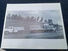 Vintage Photo Mack trucks in action 8x10