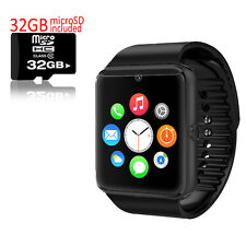 Stylish GSM Wireless Watch Cell Phone w/ Camera Unlocked AT&T + FREE 32GB Sdcard