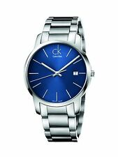Calvin Klein CK City Stainless Steel Blue Dial Swiss Quartz Watch K2G2114N