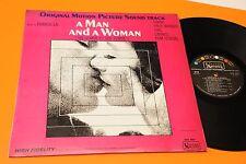 LP UN UOMO E UNA DONNA ORIG ITALY VERSIONE MONO OST COLONNA SONORA 1966 EX