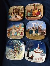 6 Collectors Plates Chrismas Around The World John Beswick Limited